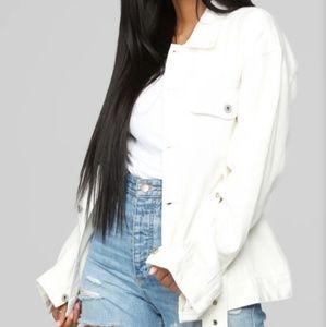 White Denim Jacket SZ 1X or 14 Plus